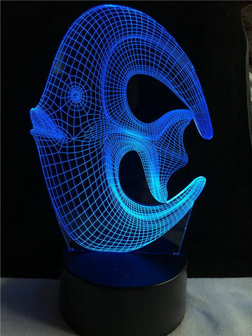 Animal Lovely Topical Fish 3D Illusion Lamp Night Light