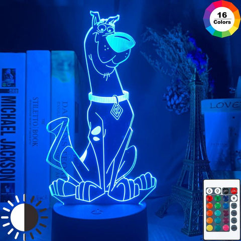 Image of Dog Scooby Doo Figure 3D Illusion Lamp Night Light