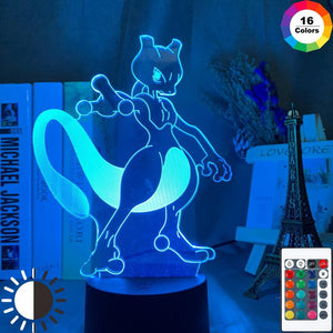 Game Pokemon Go Mewtwo 3D Illusion Lamp Night Light 840