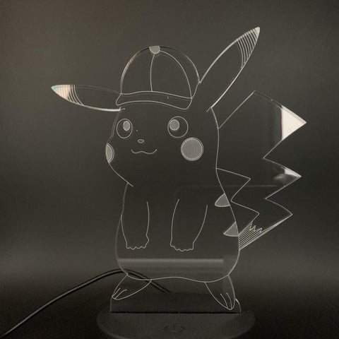 Game Pokemon Go Pikachu 3D Illusion Lamp Night Light