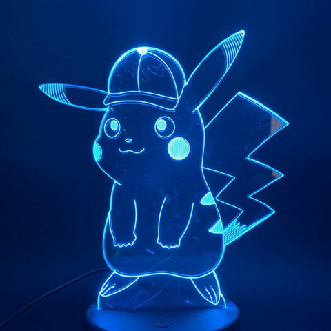Image of Game Pokemon Go Pikachu 3D Illusion Lamp Night Light