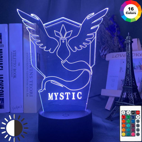 Game Pokemon Go Team Mystic Room 3D Illusion Lamp Night Light