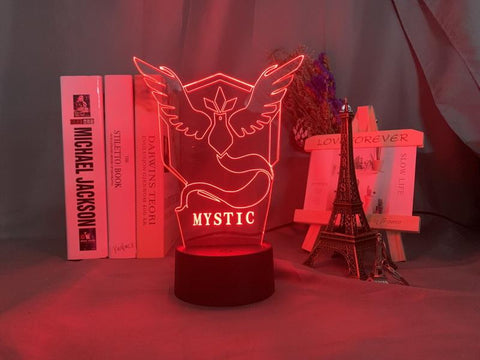 Image of Game Pokemon Go Team Mystic Room 3D Illusion Lamp Night Light