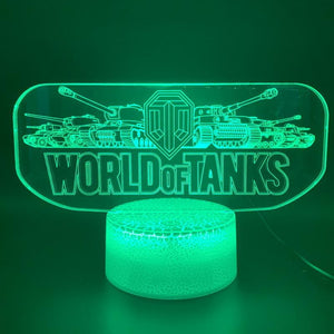 Game World of Tanks Bed Room 3D Illusion Lamp Night Light