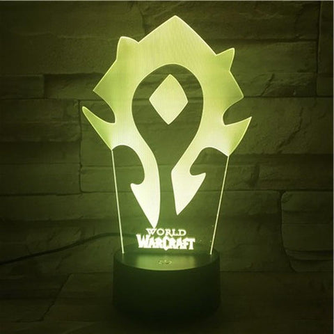 Image of Game World of Warcraft Sign 3D Illusion Lamp Night Light