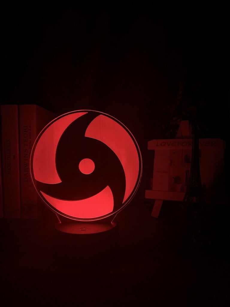 Japanese Anime Naruto Mangekyo Sharingan Naka Study Room 3D Illusion Lamp Night Light