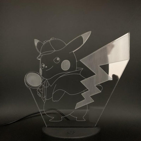 Kids Game Pokemon Go Pikachu Figure 3D Illusion Lamp Night Light