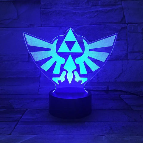 Image of Kids Game The Legend of Zelda Logo 3D Illusion Lamp Night Light