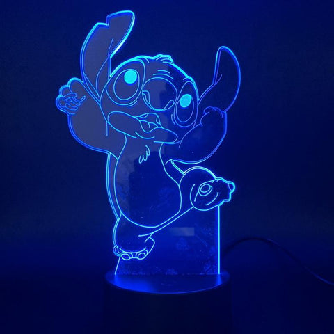 Image of Lovely Stitch Dog 3D Illusion Lamp Night Light