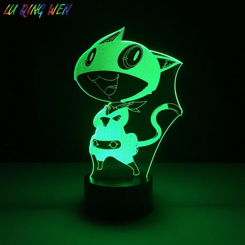 Image of Morgana Game Persona 5 3D Illusion Lamp Night Light