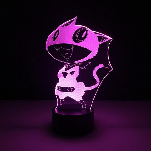 Morgana Game Persona 5 3D Illusion Lamp Night Light