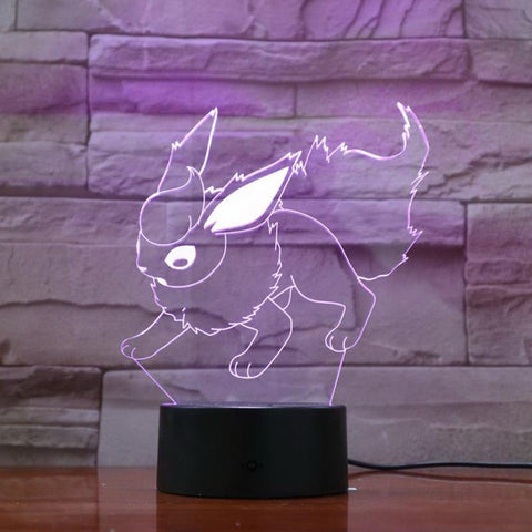 Image of Pokemon Game Figure 05 3D Illusion Lamp Night Light