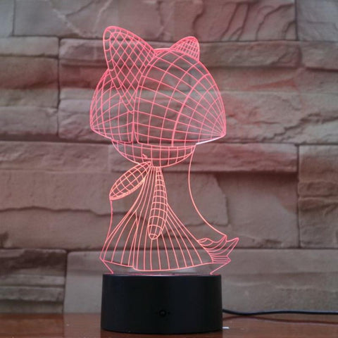 Pokemon Game Figure 06 3D Illusion Lamp Night Light