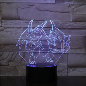 Pokemon Game Figure 3D Illusion Lamp Night Light