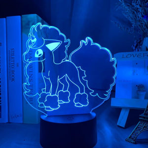 Pokemon Go Galarian Ponyta Figure 01 3D Illusion Lamp Night Light
