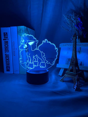 Image of Pokemon Go Galarian Ponyta Figure 01 3D Illusion Lamp Night Light