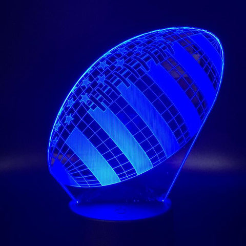 Rugby Football Sport Ball Games 3D Illusion Lamp Night Light