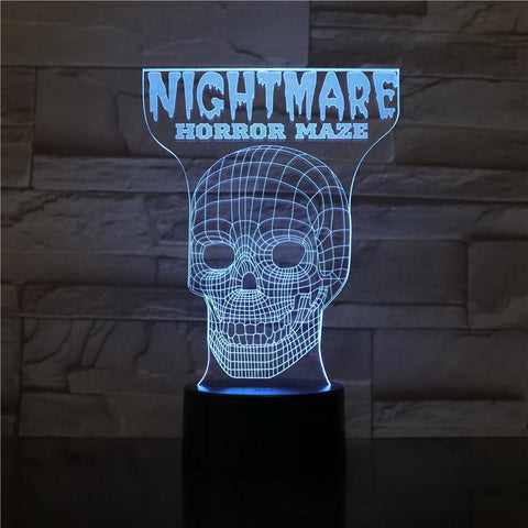 Scary Maze Game 3D Illusion Lamp Night Light