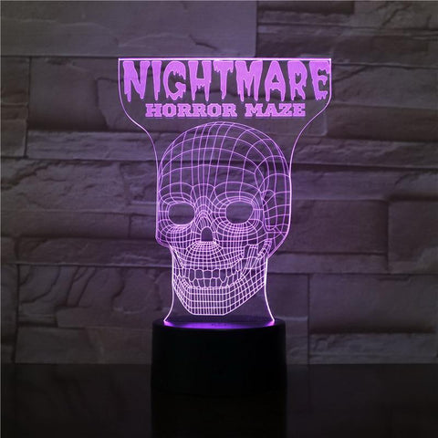 Image of Scary Maze Game 3D Illusion Lamp Night Light