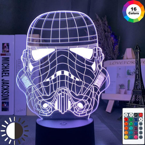 Star Wars Imperial Stormtrooper Helmet 3D Illusion Lamp Night Light