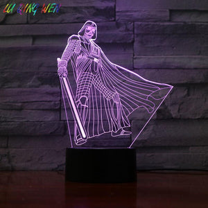 Star Wars Jedi 3D Illusion Lamp Night Light