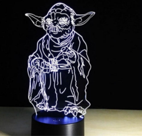 Star Wars Master Yoda Sensor Room 3D Illusion Lamp Night Light 93