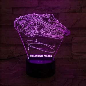 Star Wars Millennium Falcon 3D Illusion Lamp Night Light
