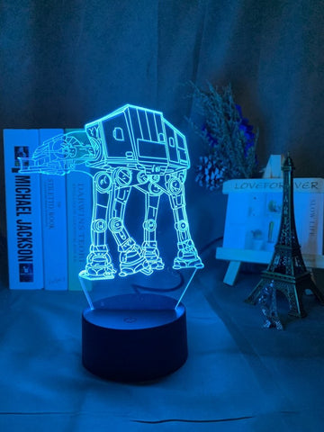 Star Wars Vehicle AT AT 3D Illusion Lamp Night Light