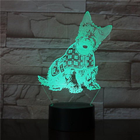 The Animal Pet Dogs Most Beautiful 3D Illusion Lamp Night Light