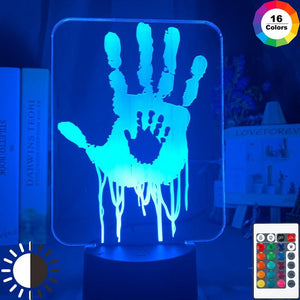 Video Game Death Stranding Hand Prints Room 3D Illusion Lamp Night Light