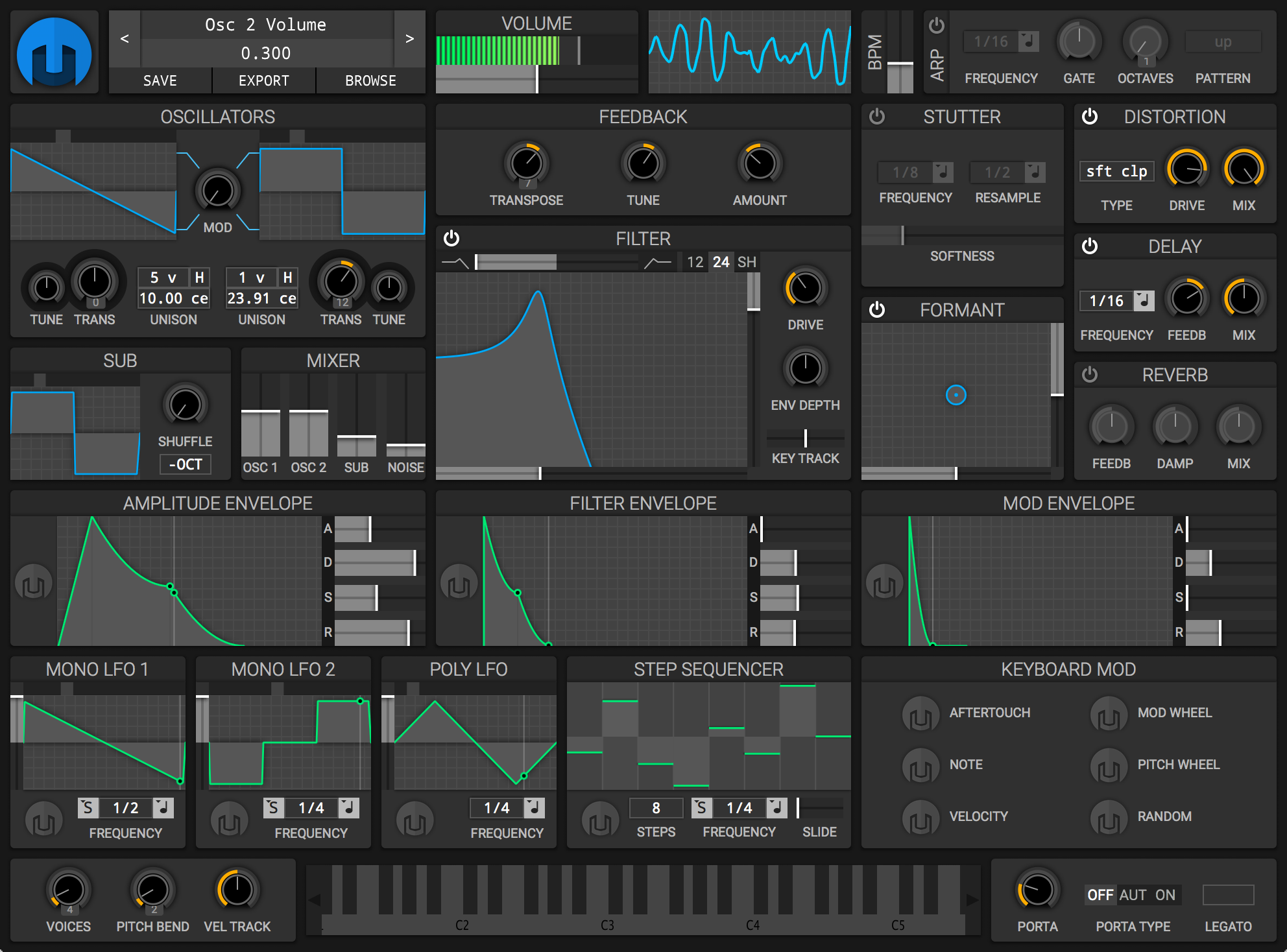 helm synth