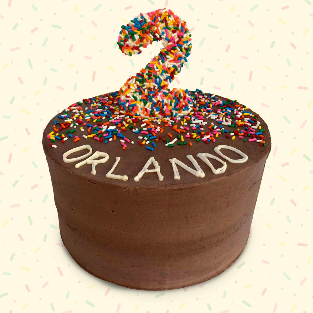 Sprinkles and Number Cake