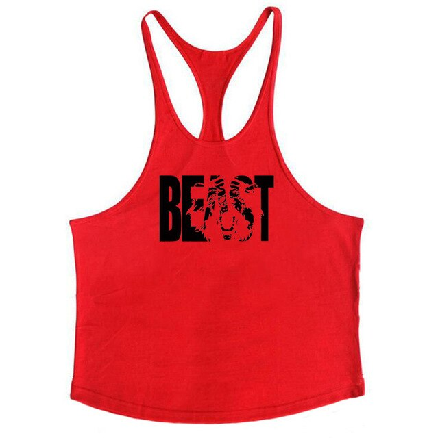 Fitness Clothing canottiere  Bodybuilding Stringer Tank Top Mens Cotton Curved hem Sleeveless shirt Workout Clothes gym vest man