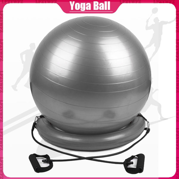 Yoga Ball Pilates Fitness Gym Balance Exercise Ball PVC Yoga Ball Base Ring Woman's Pilates Fitness Ball Exercise Equipment