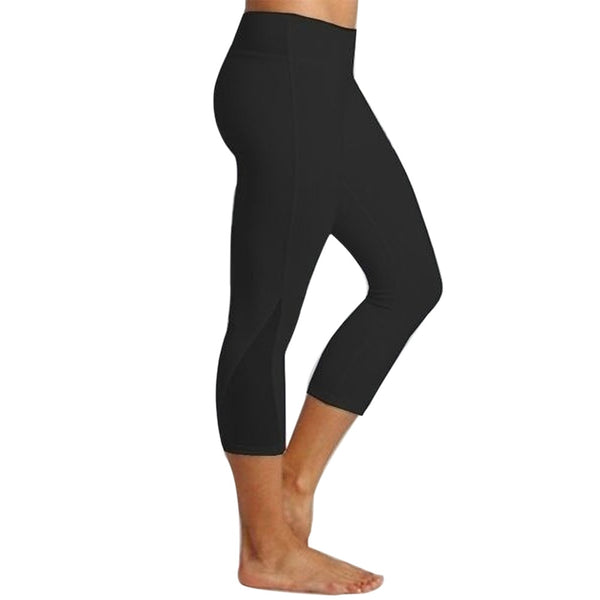 Women Leggings Fitness Sports 3/4 Length Trousers Athletic Pants Summer Stretch Capris Pants Trousers Pantalon Mujer Leggin #30