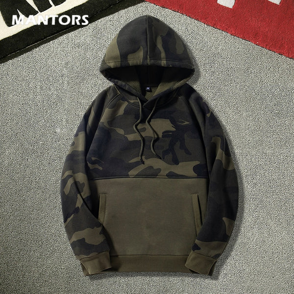 Winter Men's Hoodies Pullover Camouflage Sweatshirts 2020 Autumn Patchwork Men Hoodies Fleece Sweatshirts Casual Tracksuit Tops