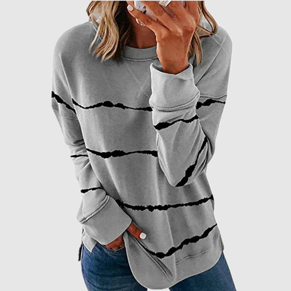 2020 Fall New Woman Clothes 5XL Plus Size Stripe T Shirts for Women Casual Long Sleeve Oversized Loose Top Tee Shirt Ladies Tops