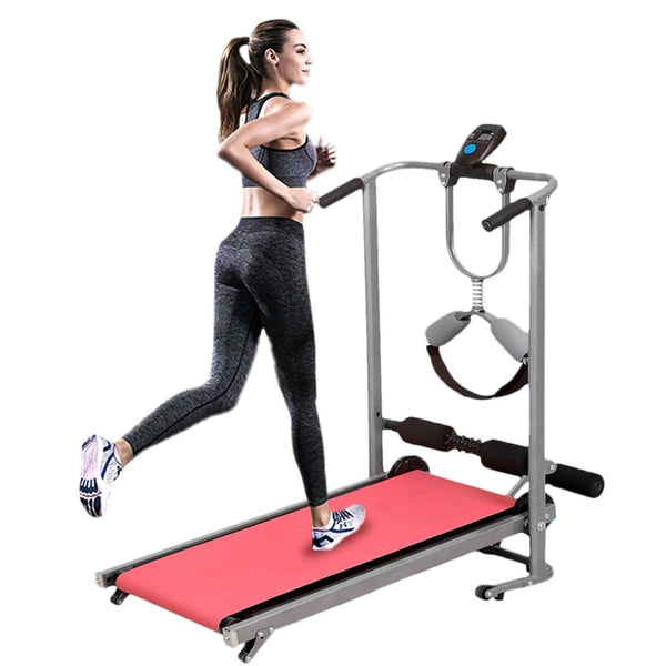 Folding Shock Running, Supine, Twisting, Massage Four-in-one Mechanical Treadmil