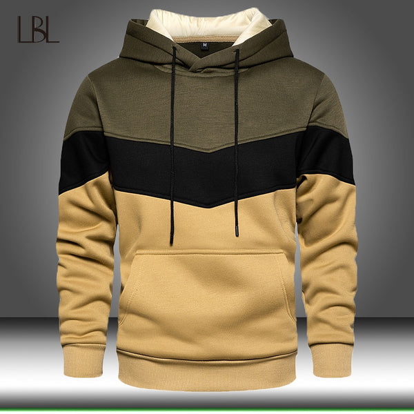 Patchwork Hoodies Men 2020 Autumn Casual Long Sleeve Hoodie Mens Sweatshirts Pullover Hoody Male Winter Warm Hooded Streetwear