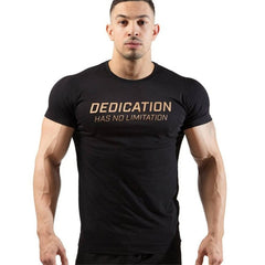 New male T shirt Gyms Tight Cotton T-shirt Mens Bodybuilding Casual Short sleeve Tees Brand Clothing Leisure sport Men Tops