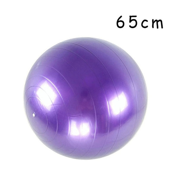 PVC Fitness Balls Yoga Ball Thickened Explosion-proof Exercise Home Gym Pilates Equipment Balance Ball 45cm/55cm/65cm/75cm/85cm