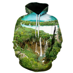 Autumn Natural Colorful weeds men's hoodies 3D print fashion outdoor green tree weed sweatshirts Hoodie hip-hop oversized hoody