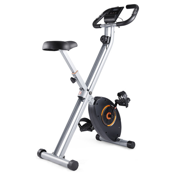 Dohiker BU-3336-6 Folding Exercise Bike X-BIKE Magnetic Stationary Indoor Bike 8-Level Resistance