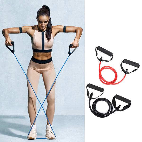 5 Levels Resistance Bands Pull Rope Elastic Fitness Exercise Tube Band for Home Workouts Strength Training Sport Equipment