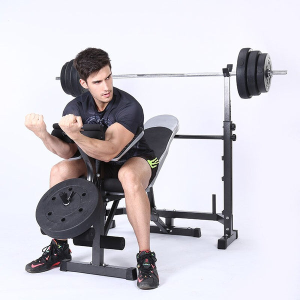Household Indoor Sit-ups Exercise Equipment Bench Press Squat Multi-function Weightlifting Bed Folding Weight Bench