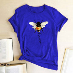 Bee Print T-shirts Women Clothing Summer Graphic T Shirts Aesthetic Shirts for Women Fashion Harajuku Top Camiseta Mujer Verano