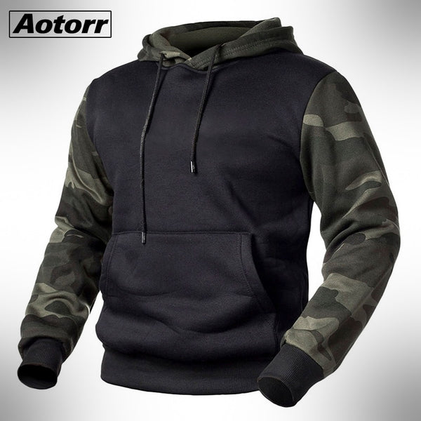 Army Green Men Military Camouflage Hoodies Autumn Winter Hooded Sweatshirts Male Camo Hoody Hip Hop Streetwear Brand Top 4XL