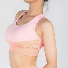Fitness Sport Bras Women Running Fitness Workout Gym Sports Bra Top Gathered Tight Elastic Tank Top Underwear Athletic Brassiere
