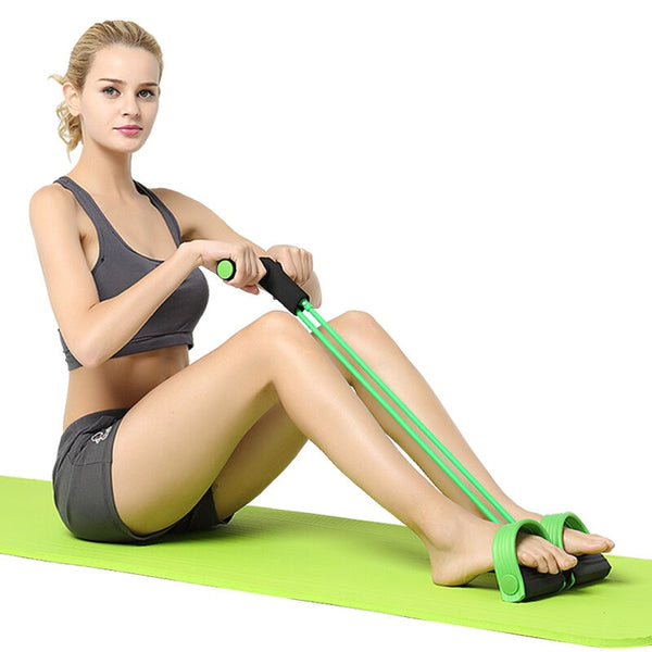 Foot Expander Chest Pull Leg Resistance Bands Weight Loss fitness Equipment 4 tube Tension Trainer Sports Latex Rope Gymnastics