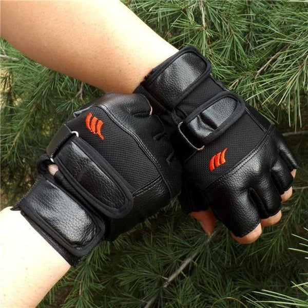 Перчатки Men Gym Exercise Training Sport Gloves Fitness Sports Half Finger Leather Gloves Перчатки Мужские Перчатки Кожаные #30